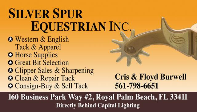 Silver Spur Equestrian Business Card
