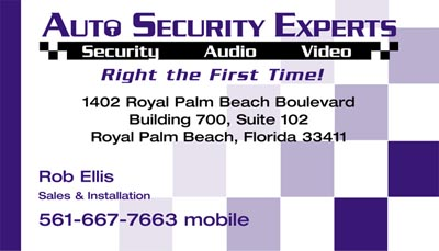 Auto Security Experts Business Card