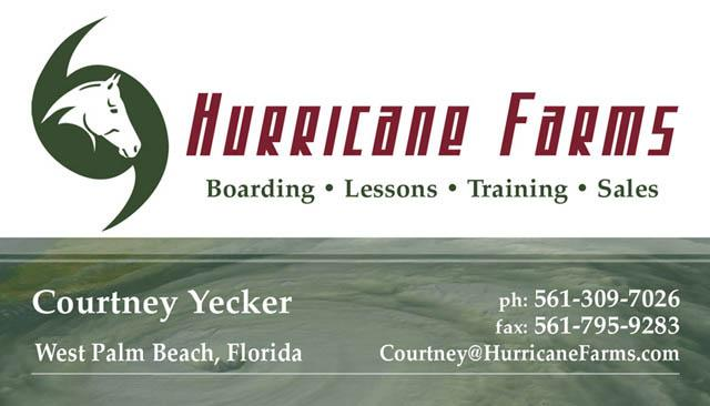 Hurricane Farms Business Card