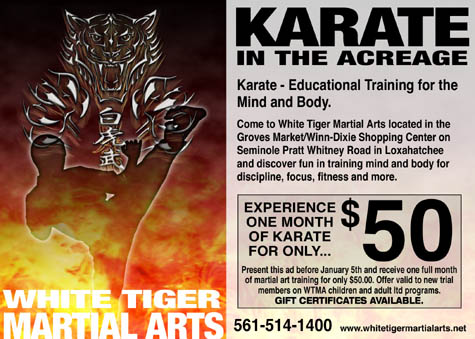 Karate in the Acreage Postcard