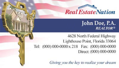 Business Card for Real Estate business.