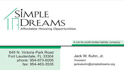 Simple Dreams Business Card